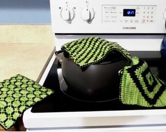 Double Knit Potholders Pattern
