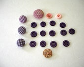 Vintage Purple Buttons Plastic  - Circus Animal Kids Button - Lot of 20 Buttons