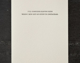 kids. letterpress card. #791
