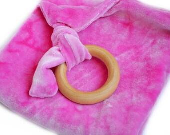 Baby Lovey Teething Toy Blanket