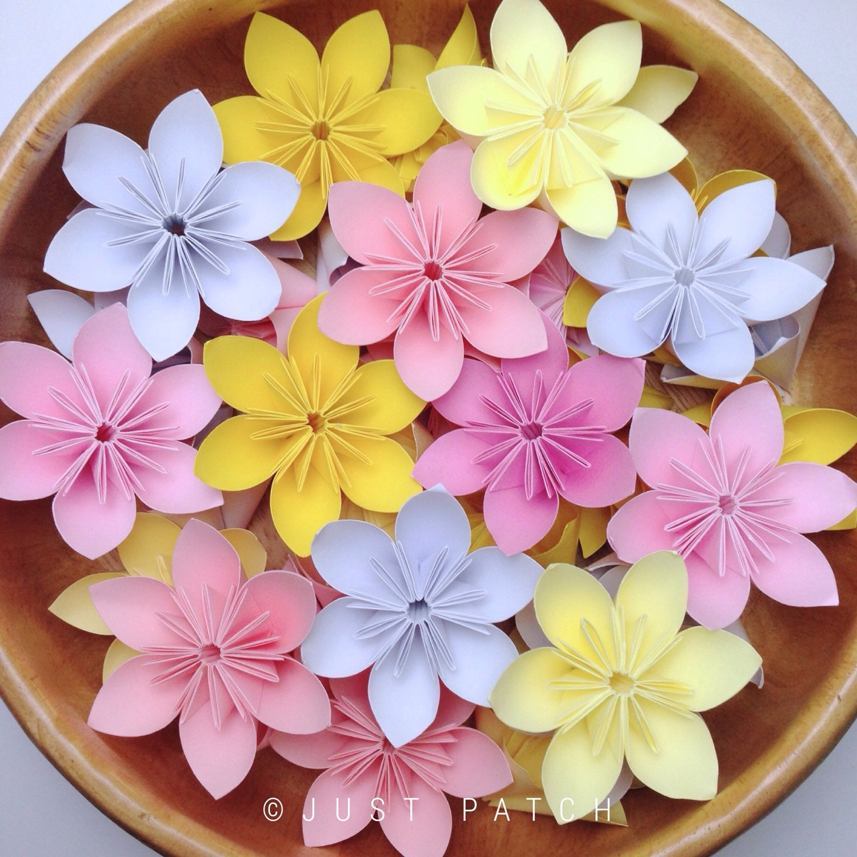 cherry blossom origami folding flowers 20 pcs