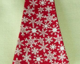 Snowflake Necktie for Smaller Dog