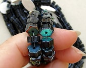 Black 6 Point Glass Beads 60% off, qty 150