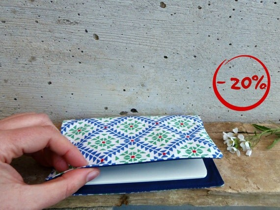 Unisex moleskine cover. Fabric cover with geometric pattern. Pocket size moleskine journal included 20% DISCOUNT