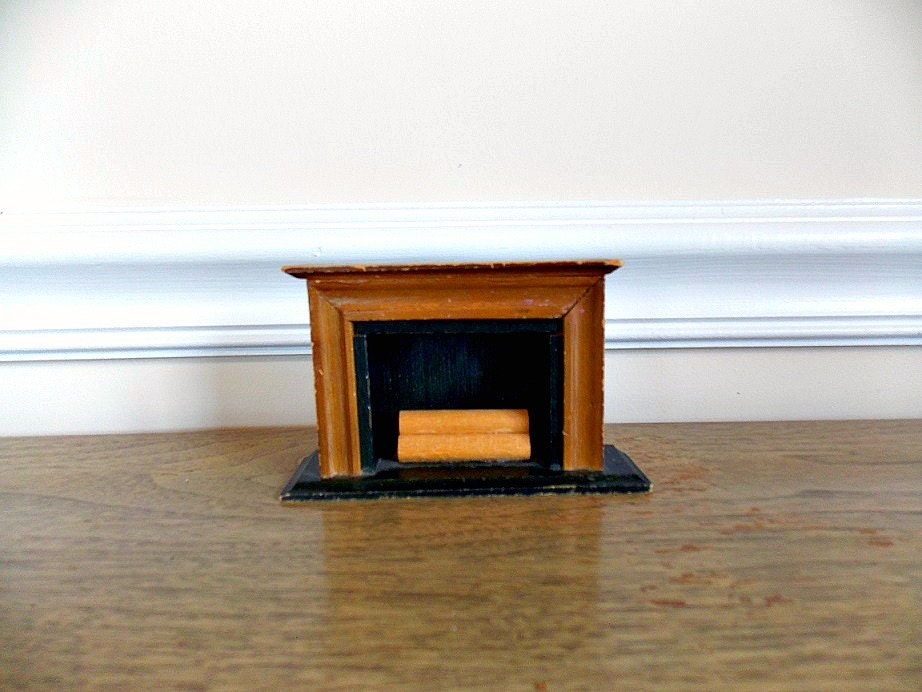 Ts Berry Furniture Dollhouse Furniture, Fireplace, Vintage Dollhouse Furniture, Wood, Toy ...