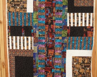 Scenes of Egypt Twin Bed Quilt