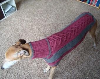 dog/ greyhound sweater knitting pattern PDF file ONLY