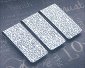 3 Silver Money Clips Mens Accessories Vintage Style Gift For Him Father's Day  Groomsmen Antiqued Silver Money Clip Embossed Money Clip