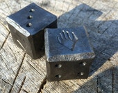 "Six Sided Metal Magic the Gathering Themed Dice (Planeswalker) D6 1"" (2 dice) - Hand Forged"