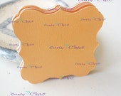 "54 Square Bracket Tags Size 3"" In Non-textured or Textured Cardstock paper"