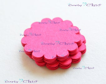 "275 Scalloped Circle Tag Size 1""  -Scalloped Circles die cuts -Cardstock tags -Scalloped labels -Paper die cuts -Paper Die cuts"