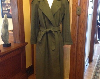 Exceptional Vintage Wool Trench Coat