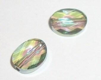 Swarovski crystal beads 10x8mm and 8x6mm mini ovals style 5051 -- Paradise shine -- 2 pcs per lot