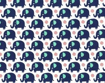 SALE - 1 yard - Mini elephant in sprout, Michael Miller Fabrics