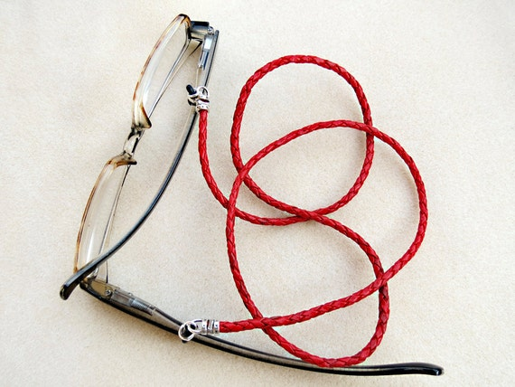 braided leather eyeglass leash for or your choice
