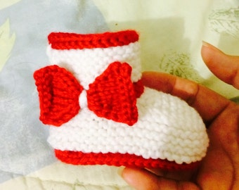Knitted Baby Booties,