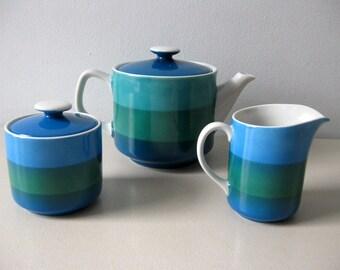 Vintage 1960s Mod teapot set Mod coffee pot set