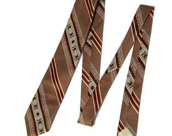 Vintage 70s Tie Wide Fat Polyester Disco Necktie