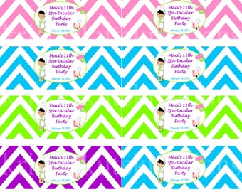 Chevron Spa Day Napkin Rings -DIGITAL Check out the matching designs