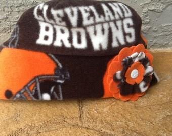 Cleveland Browns Fleece Flower Hat