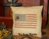 Primitive Americana accent pillow