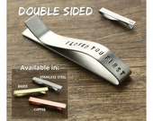 I Loved You First Tie Clip Daddy Gift for Daddy Tie Bar Gift for Parent Wedding Dad Gift Tie Clip Stainless Steel For Him For Dad