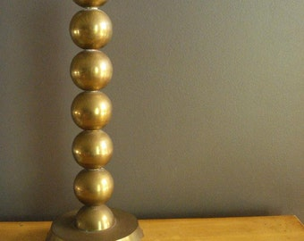 GIANT Brass Candle Stick III - Vintage Brass Candle Holder - Brass Sphere Candle Holder - Stacked Brass Balls