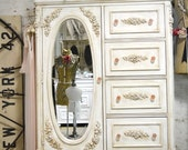 Painted Cottage Chic Shabby Romantic French  Dresser LGCH21