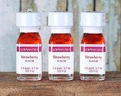 LorAnn Strawberry Oil, Strawberry Hard Candy Flavoring, Strawberry Icing Flavoring, Strawberry Concentrated Flavoring (1 Dram - .125 oz)