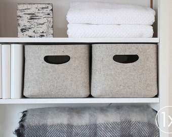 Large Size / Custom-made Felt Storage Basket / Storage Box for a Shelf