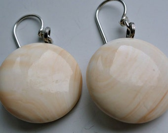 Cameo Conch Shell Earrings