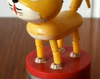 Vintage Candy the Cat Push Button Puppet