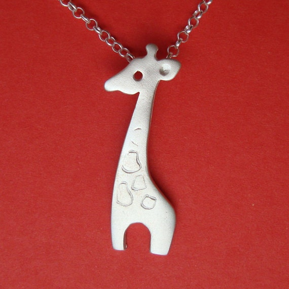Giraffe Necklace sterling silver Animal Pendant Giraffe Charm Giraffe pendant Mom Jewelry Girls necklace  gift  statement