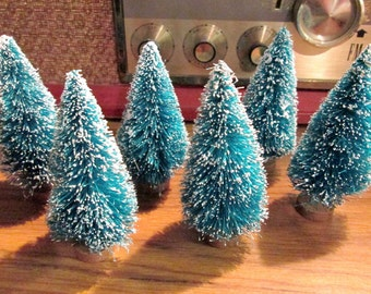 """Bottle Brush Trees Vintage Style for Villages or Crafting 3 1/2"""" Buy 1 or Buy Them All!"""