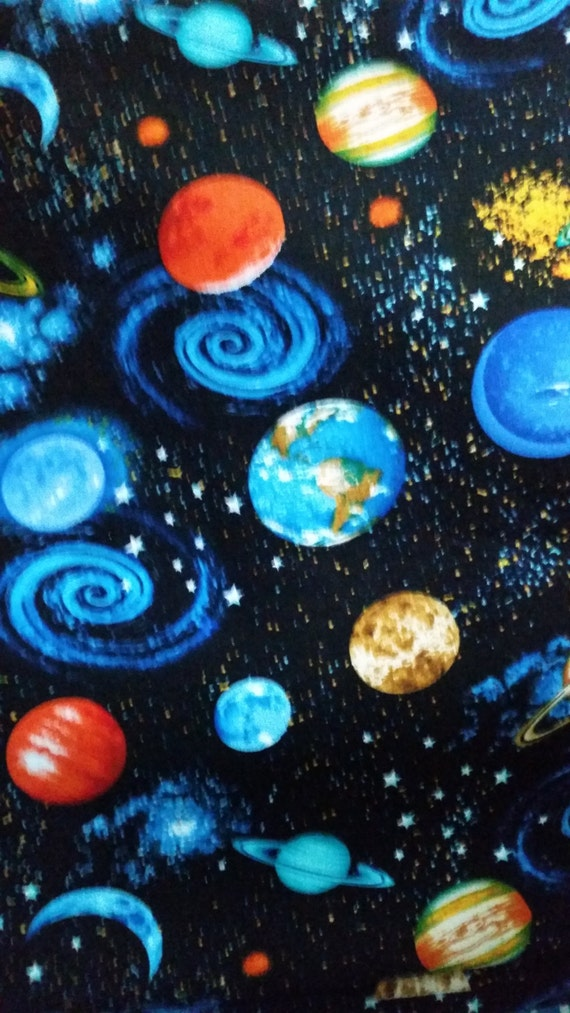 Outer space fabric hard find from altcollect on etsy studio for Outer space fabric