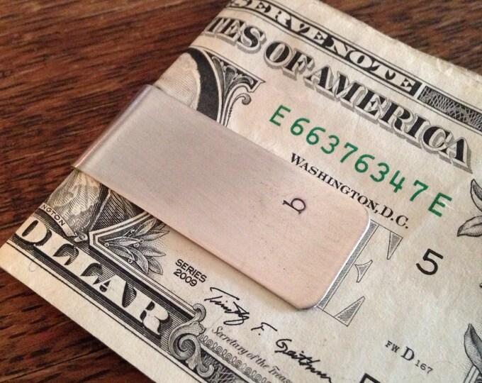 Money Clip Personalized Mens Money Clip Custom Initials Skinny Moneyclip