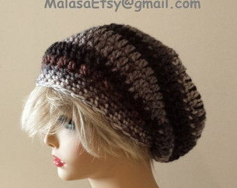 Slouchy Beanie HAT/ French Slouchy Bohemian Hat  / Perfect GIFT Fall Winter Hat / Cozy Chemo Slouchy Hat / Beanie Slouchy Hat Ready to Ship