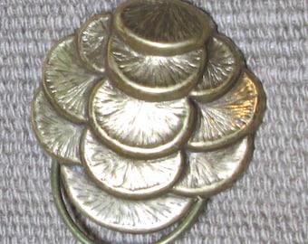 Vintage JERI - LOU Dress or Scarf Clip, Bronze Tone