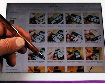 Gifts for Techies, Great Gift iphone stylus, ipad stylus, wood stylus Handmade touchscreen stylus, Smartphone Accessories