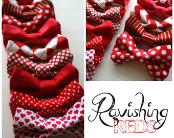 Little and Big Guy BOW TIE - Ravishing REDS Collection - (Newborn-Adult) - Baby Boy Toddler Teen Man - (Made to Order)- Christmas Holiday
