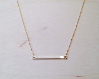Skinny Bar Gold Necklace
