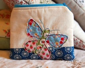 A Very Pretty Butterfly Coin Purse in Blue