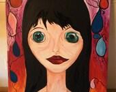 Portrait painting modern
