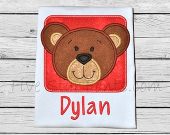 Bear Block Applique - 4 sizes