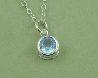 Small Crystal Necklace - birthstone necklace jewelry