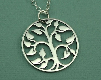 Tree Necklace - Sterling Silver Tree of Life Necklace, Tree Jewelry, Zen Jewelry, Tree Hugger, Tree Pendant, Family Tree Jewelry, Gift
