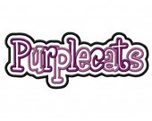 Purplecats 2 Color Embroidery Machine Double Applique Design 4311