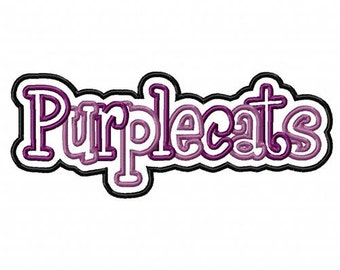 Purplecats 2 Color Embroidery Machine Double Applique Design 4311