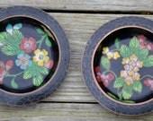 2 Antique Cloisonne Enamel Coasters