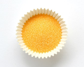 Sun Yellow Sanding Sugar / Sun Yellow Sugar for Cookies, Cupcakes and Cakes - Small Bag (2 oz)